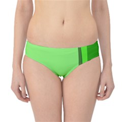 Simple Green Hipster Bikini Bottoms