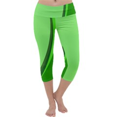 Simple Green Capri Yoga Leggings