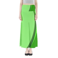 Simple Green Maxi Skirts