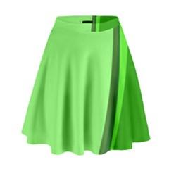 Simple Green High Waist Skirt