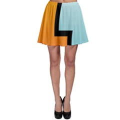 Two Fafe Orange Blue Skater Skirt