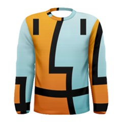 Two Fafe Orange Blue Men s Long Sleeve Tee