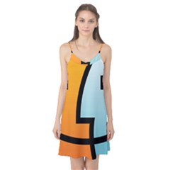 Two Fafe Orange Blue Camis Nightgown