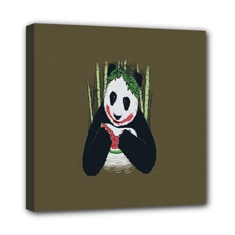 Simple Joker Panda Bears Mini Canvas 8  X 8