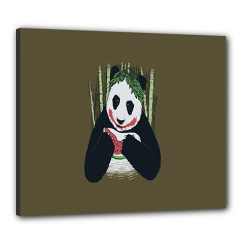 Simple Joker Panda Bears Canvas 24  x 20