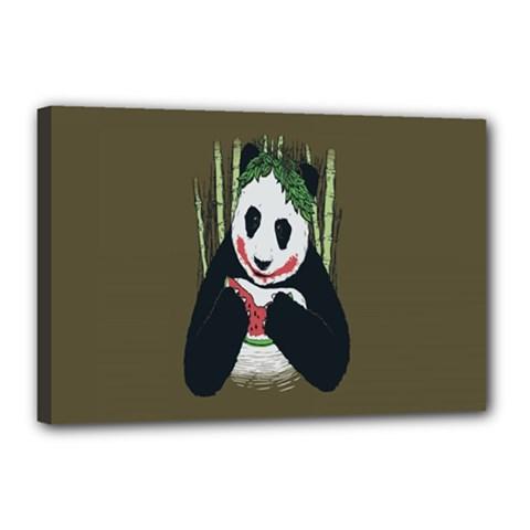 Simple Joker Panda Bears Canvas 18  x 12