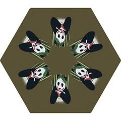 Simple Joker Panda Bears Mini Folding Umbrellas