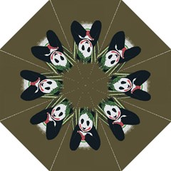 Simple Joker Panda Bears Hook Handle Umbrellas (Medium)