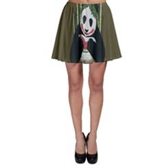 Simple Joker Panda Bears Skater Skirt