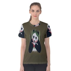 Simple Joker Panda Bears Women s Cotton Tee