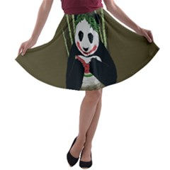 Simple Joker Panda Bears A-line Skater Skirt