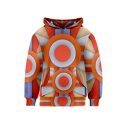 Round Color Copy Kids  Pullover Hoodie