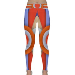 Round Color Copy Classic Yoga Leggings