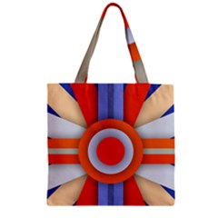 Round Color Copy Zipper Grocery Tote Bag