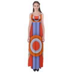 Round Color Copy Empire Waist Maxi Dress