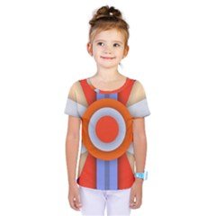 Round Color Copy Kids  One Piece Tee