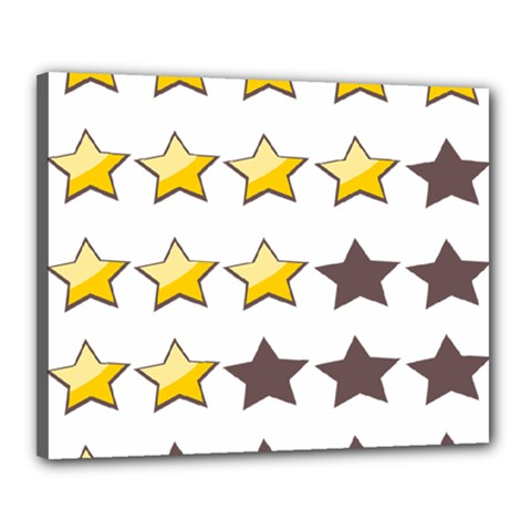 Star Rating Copy Canvas 20  x 16
