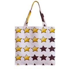 Star Rating Copy Zipper Grocery Tote Bag