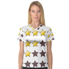 Star Rating Copy Women s V-Neck Sport Mesh Tee