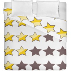 Star Rating Copy Duvet Cover Double Side (king Size)