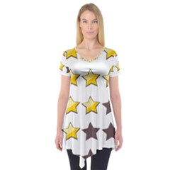 Star Rating Copy Short Sleeve Tunic