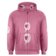 Valentines Pink Day Copy Men s Zipper Hoodie