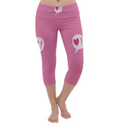 Valentines Pink Day Copy Capri Yoga Leggings