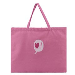 Valentines Pink Day Copy Zipper Large Tote Bag
