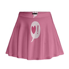 Valentines Pink Day Copy Mini Flare Skirt