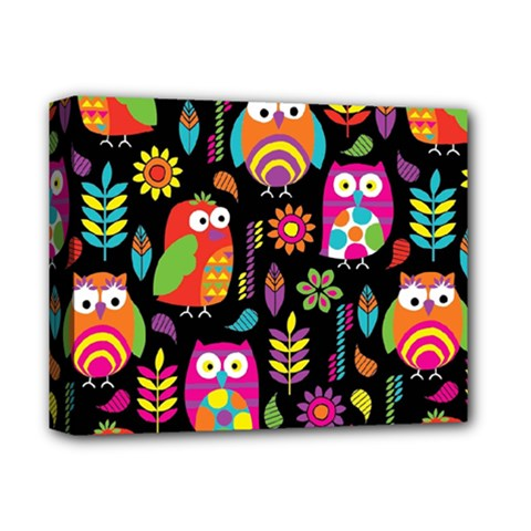 Ultra Soft Owl Deluxe Canvas 14  x 11