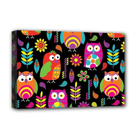 Ultra Soft Owl Deluxe Canvas 18  x 12