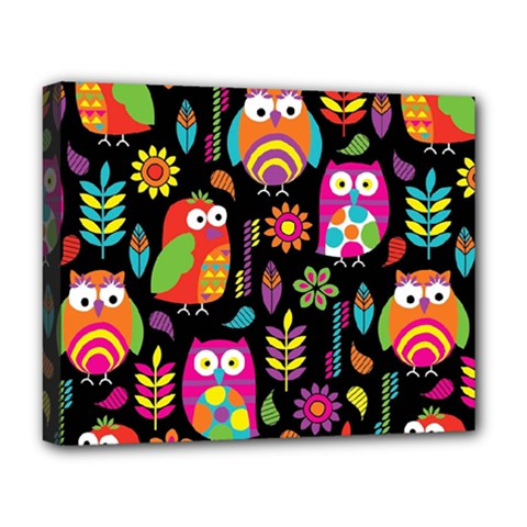 Ultra Soft Owl Deluxe Canvas 20  x 16