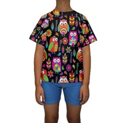 Ultra Soft Owl Kids  Short Sleeve Swimwear