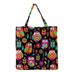 Ultra Soft Owl Grocery Tote Bag