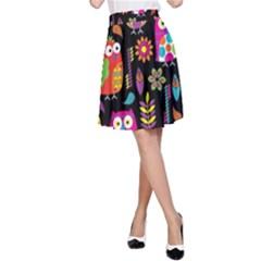 Ultra Soft Owl A-Line Skirt