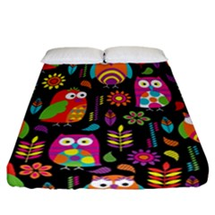 Ultra Soft Owl Fitted Sheet (California King Size)