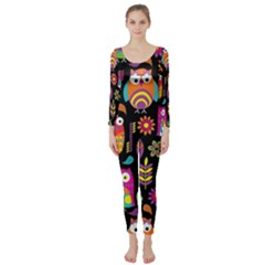 Ultra Soft Owl Long Sleeve Catsuit