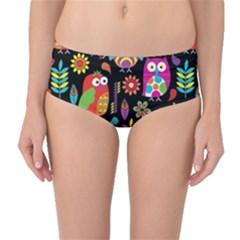 Ultra Soft Owl Mid-Waist Bikini Bottoms