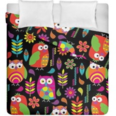 Ultra Soft Owl Duvet Cover Double Side (King Size)