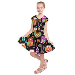 Ultra Soft Owl Kids  Short Sleeve Dress