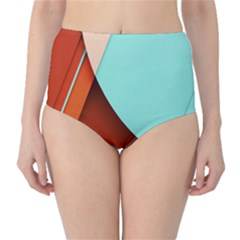 Thumb Lollipop Wallpaper High-Waist Bikini Bottoms