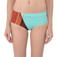 Thumb Lollipop Wallpaper Mid-Waist Bikini Bottoms