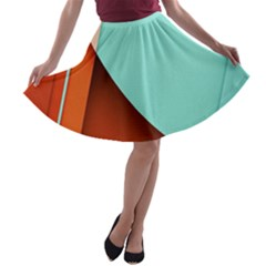 Thumb Lollipop Wallpaper A-line Skater Skirt