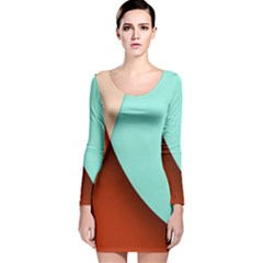 Thumb Lollipop Wallpaper Long Sleeve Velvet Bodycon Dress