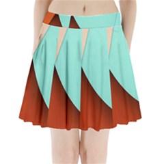 Thumb Lollipop Wallpaper Pleated Mini Skirt