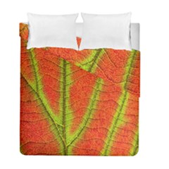 Unique Leaf Duvet Cover Double Side (Full/ Double Size)