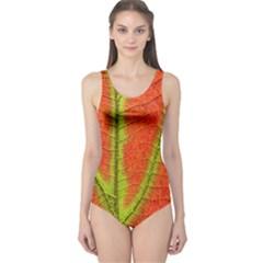 Unique Leaf One Piece Swimsuit