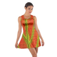 Unique Leaf Cotton Racerback Dress