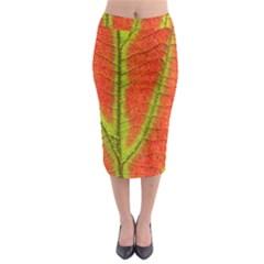 Unique Leaf Midi Pencil Skirt