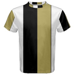 Black Brown Gold White Stripes Elegant Festive Stripe Pattern Men s Cotton Tee